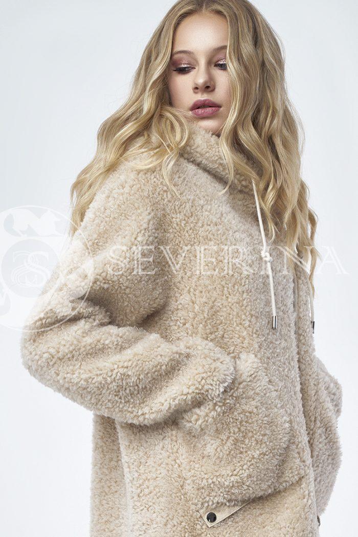 """doletskiy 1245 700x1050 - куртка """"косуха"""" из меха овчины в цвете кэмэл"""
