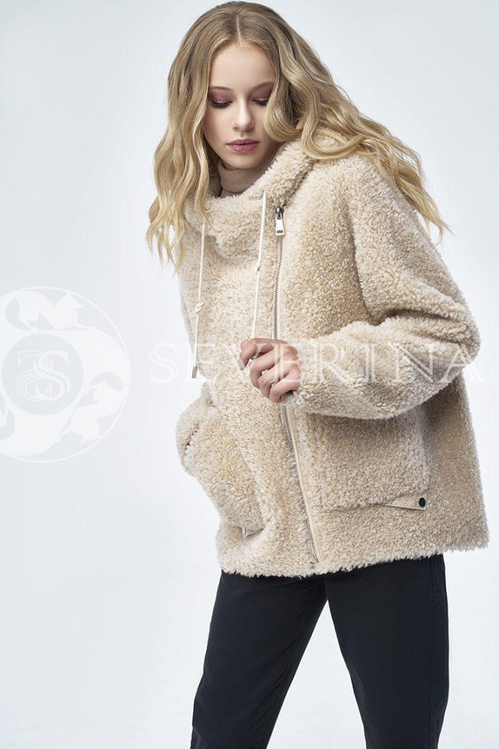 """doletskiy 1253 700x1050 - куртка """"косуха"""" из меха овчины в цвете кэмэл"""