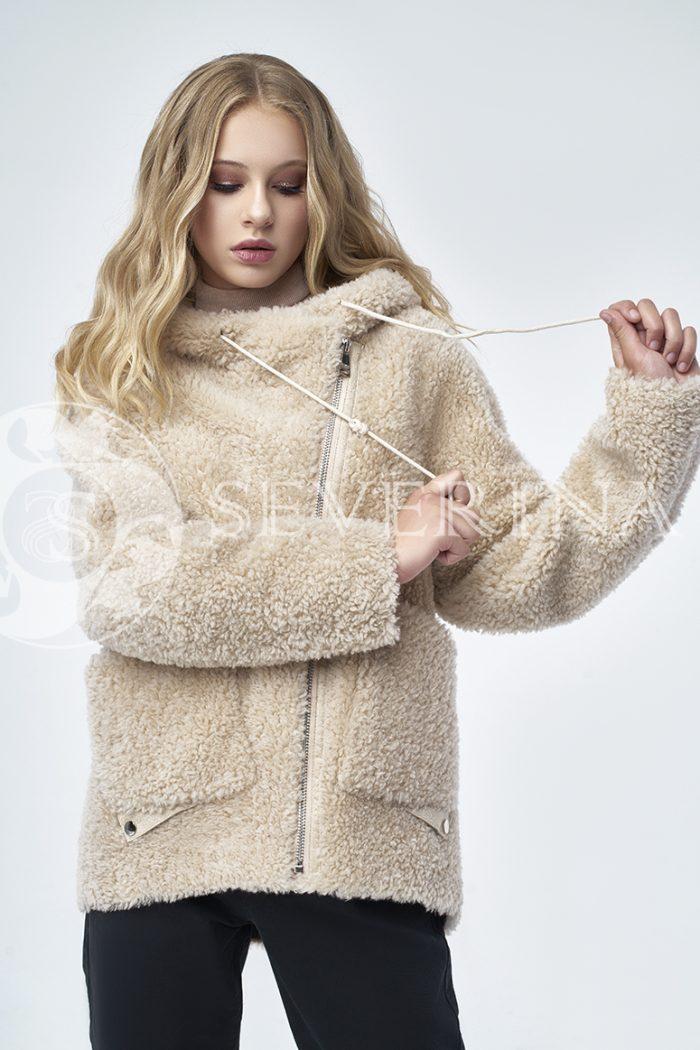 """doletskiy 1255 700x1050 - куртка """"косуха"""" из меха овчины в цвете кэмэл"""