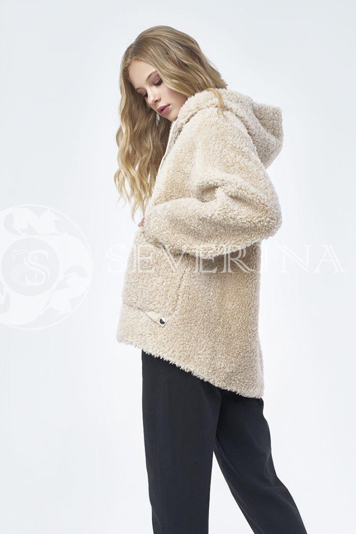 """doletskiy 1261 700x1050 - куртка """"косуха"""" из меха овчины в цвете кэмэл"""