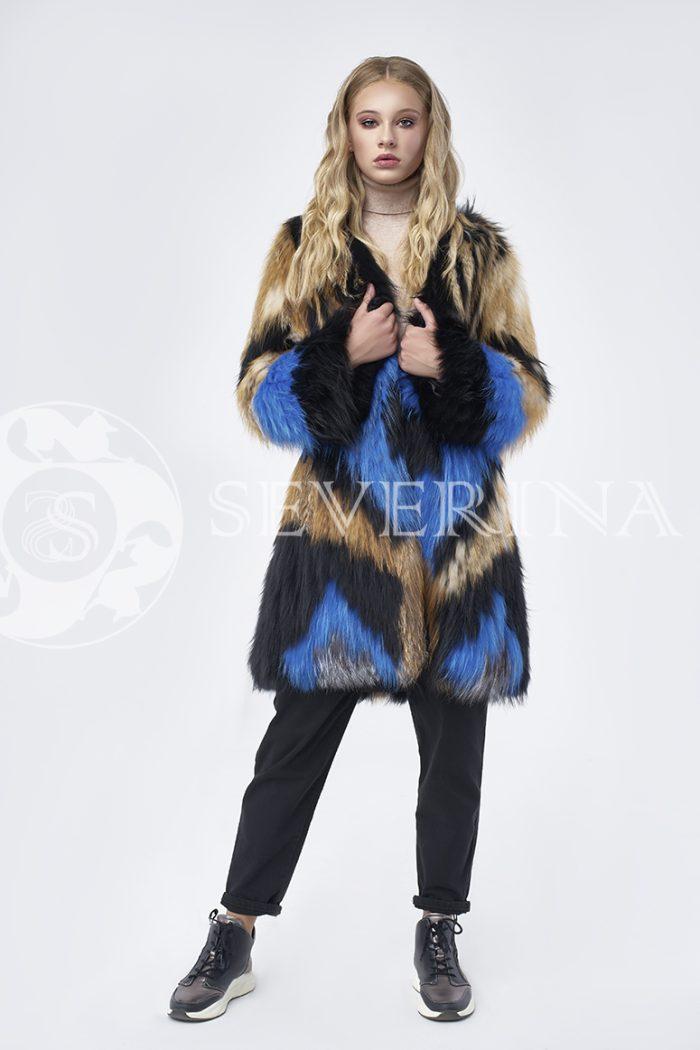 doletskiy 1318 700x1050 - шуба из цветного меха лисы