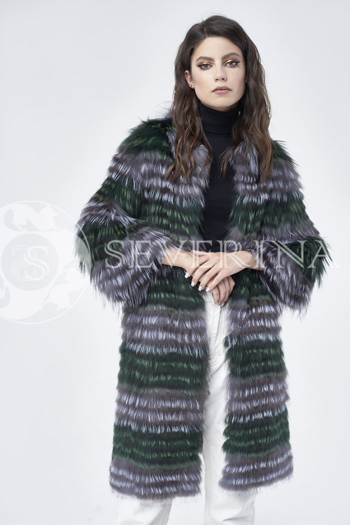 doletskiy 1545 700x1050 - шуба из цветного меха лисы чернобурки