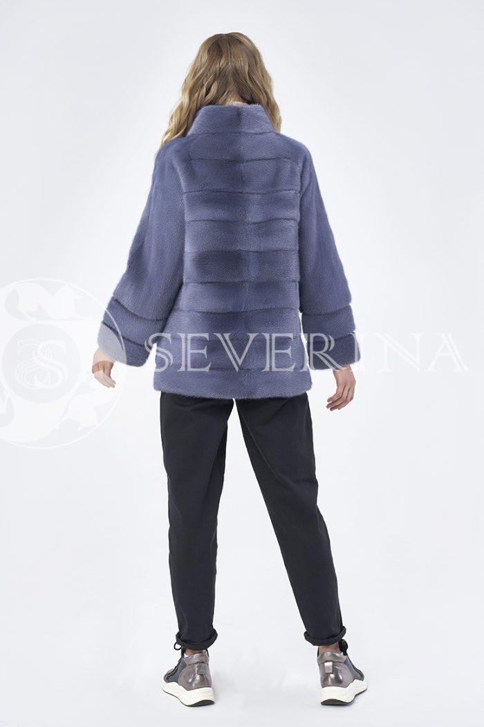"шуба-куртка ""косуха"" из меха норки в цвете темная лаванда"