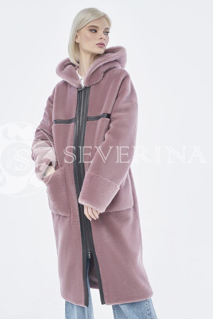 doletskiy 0931 700x1050 - шуба-дублёнка из овечьей шерсти с отделкой кожей