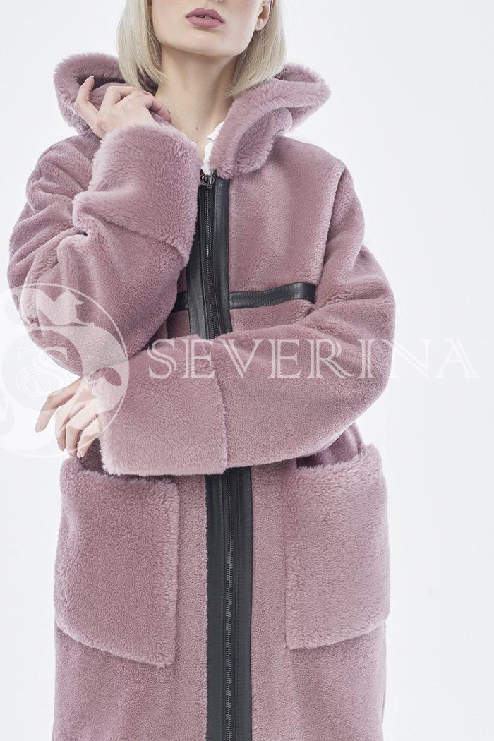 doletskiy 0934 700x1050 - шуба-дублёнка из овечьей шерсти с отделкой кожей