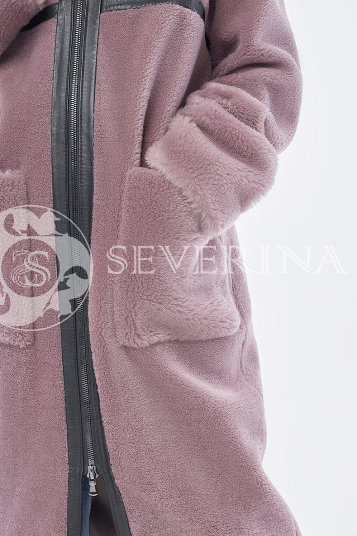 doletskiy 0940 700x1050 - шуба-дублёнка из овечьей шерсти с отделкой кожей