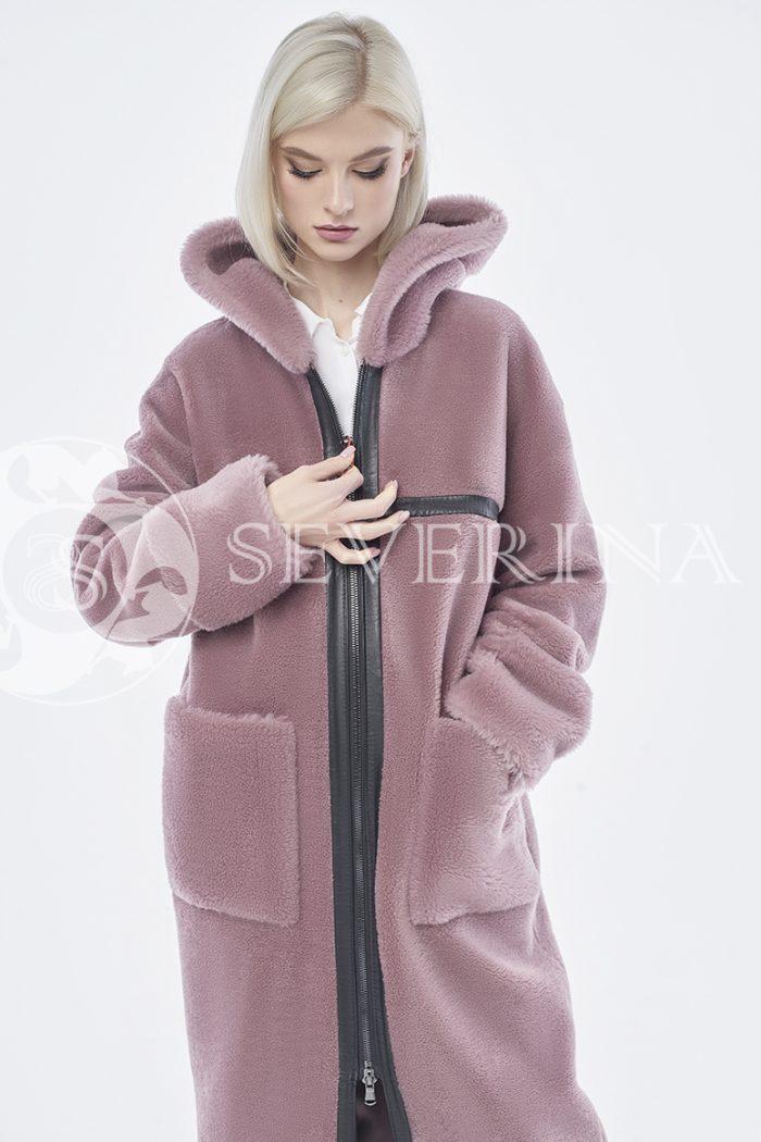 doletskiy 0941 700x1050 - шуба-дублёнка из овечьей шерсти с отделкой кожей