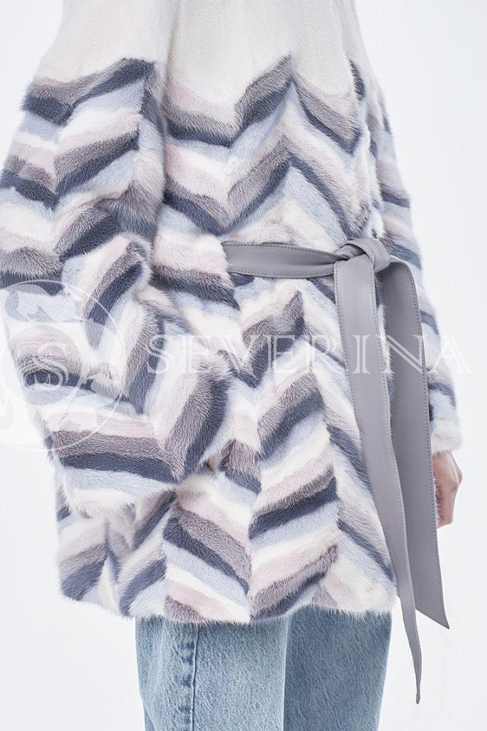 doletskiy 1292 700x1050 - шуба из цветного меха норки в стиле «пэчворк»