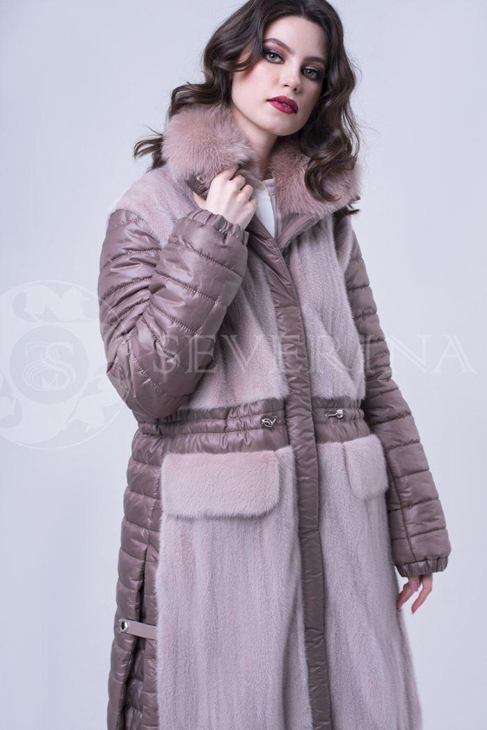 doletskiy 2012 700x1050 - куртка удлиненная с отделкой из меха норки