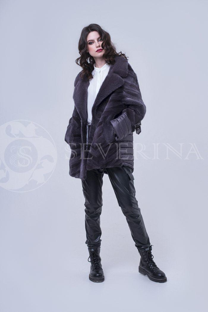 куртка с отделкой из меха норки