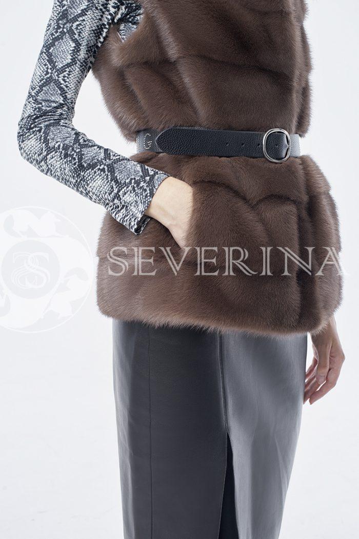 doletskiy 0297 700x1050 - жилет из меха норки brown