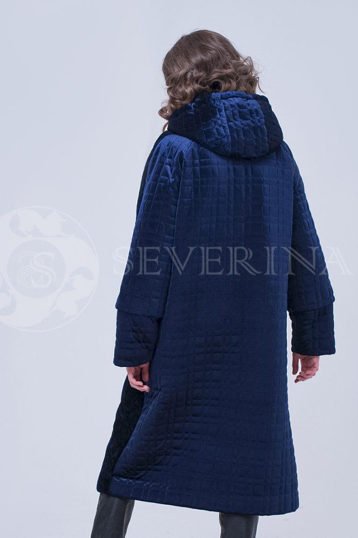 doletskiy 2333 700x1051 - пальто-трансформер из бархатной стёганки комбинированное мехом овчины