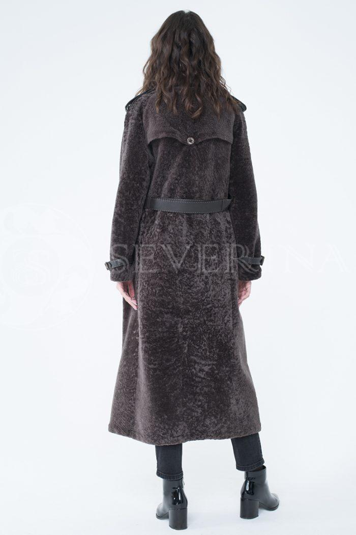 lev300001 700x1050 - пальто-тренч из меха овчины с кожаной отделкой