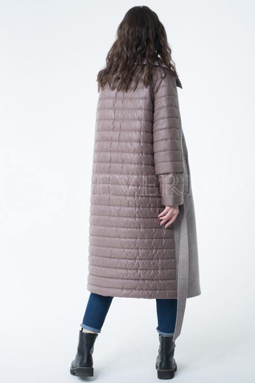 пальто-трансформер стёганое с капюшоном