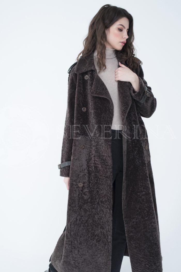 lev301714 1 700x1050 - пальто-тренч из меха овчины с кожаной отделкой