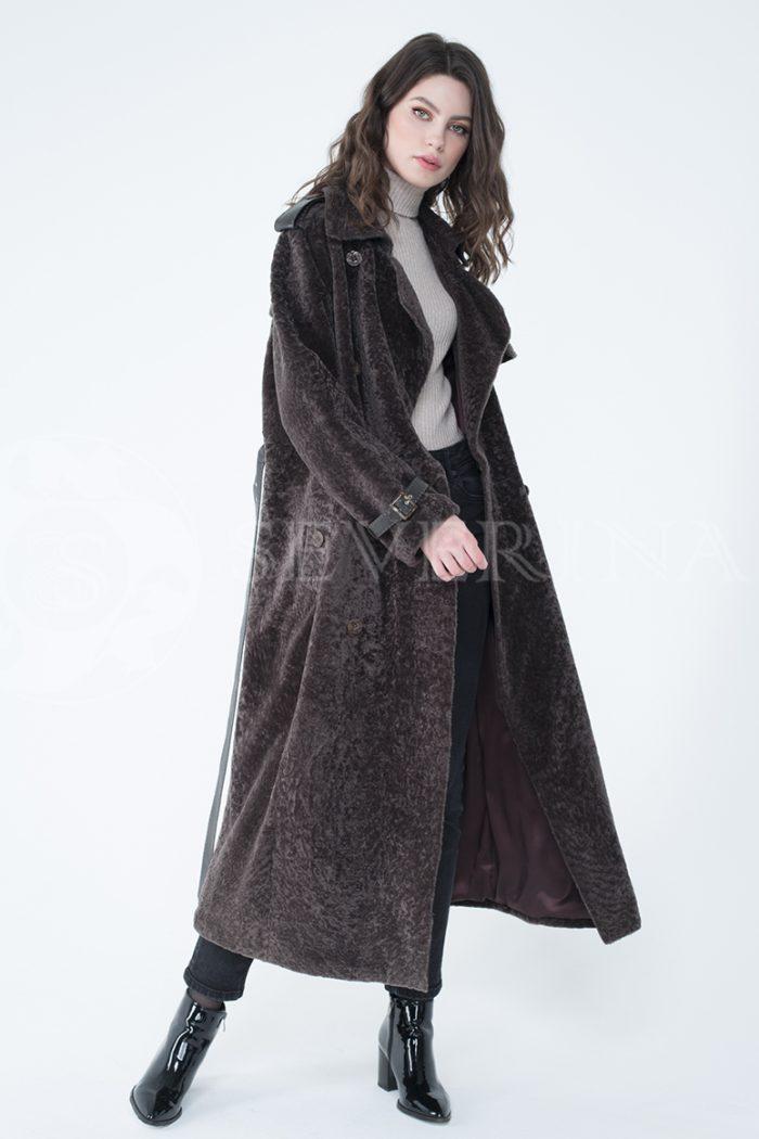 lev301730 1 700x1050 - пальто-тренч из меха овчины с кожаной отделкой
