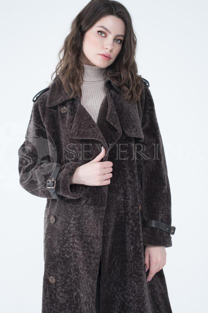 lev301743 1 700x1050 - пальто-тренч из меха овчины с кожаной отделкой