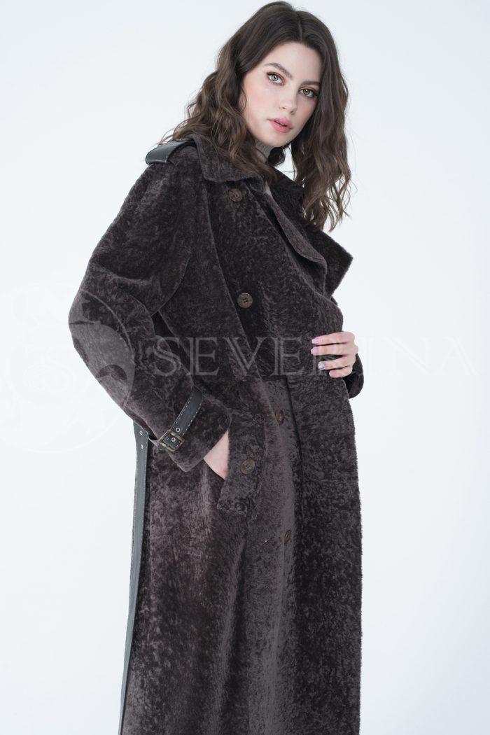 lev301745 1 700x1050 - пальто-тренч из меха овчины с кожаной отделкой