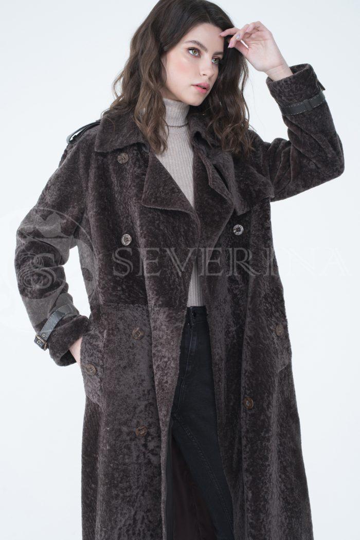 lev301746 1 700x1050 - пальто-тренч из меха овчины с кожаной отделкой