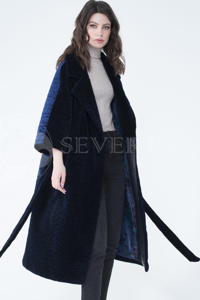 lev302065 700x1050 - пальто-трансформер из бархатной стёганки комбинированное мехом овчины