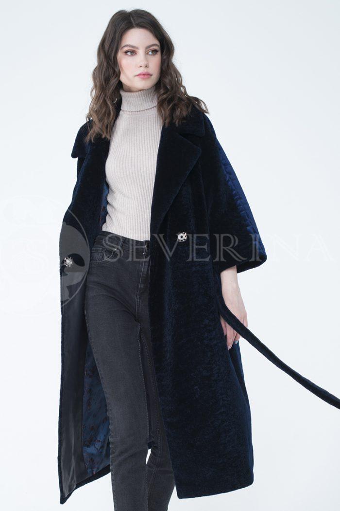 lev302066 700x1050 - пальто-трансформер из бархатной стёганки комбинированное мехом овчины