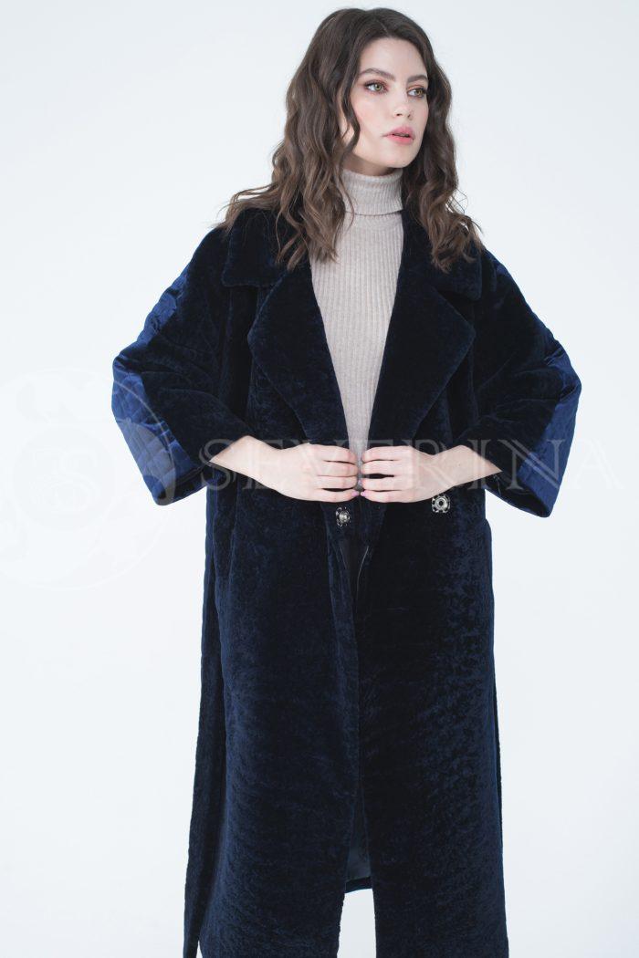 lev302076 700x1050 - пальто-трансформер из бархатной стёганки комбинированное мехом овчины