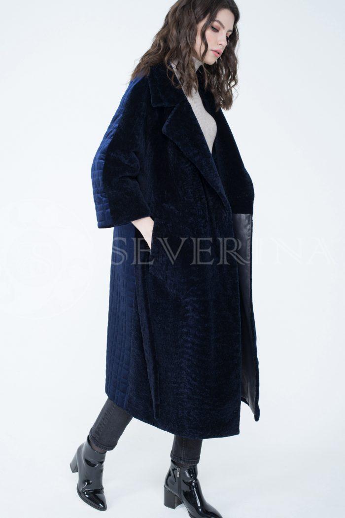 lev302083 700x1050 - пальто-трансформер из бархатной стёганки комбинированное мехом овчины