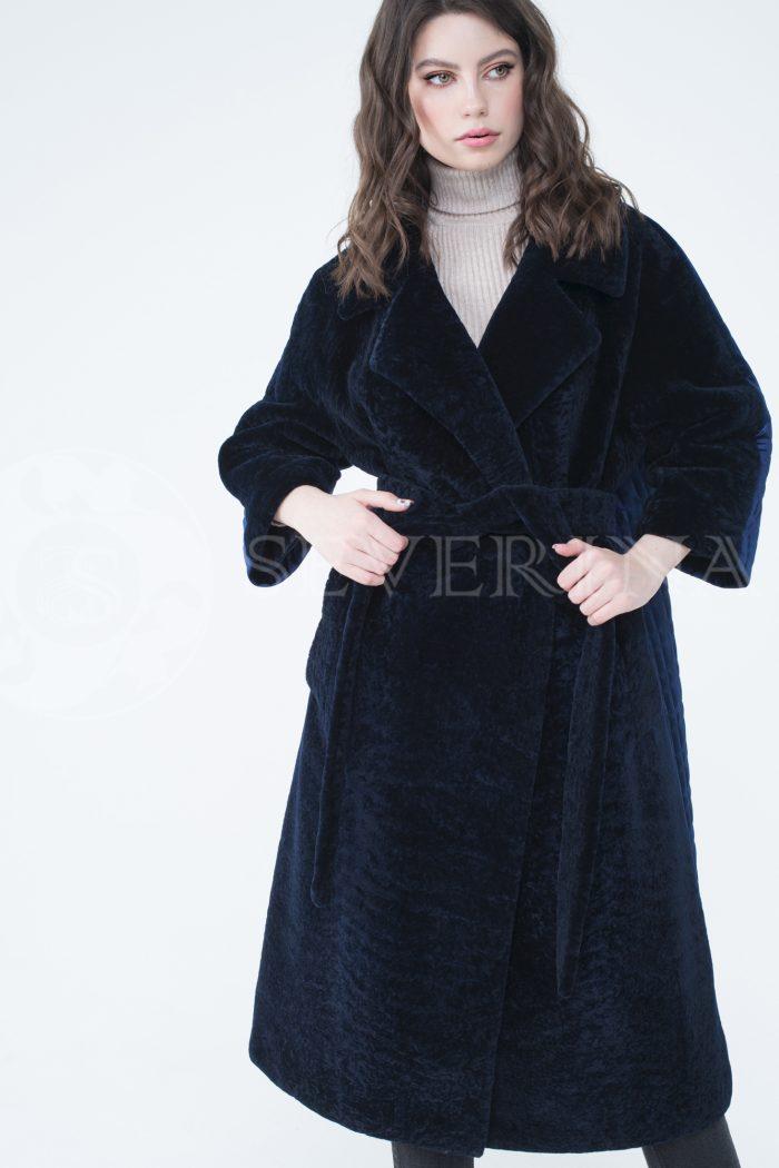 lev302106 700x1050 - пальто-трансформер из бархатной стёганки комбинированное мехом овчины