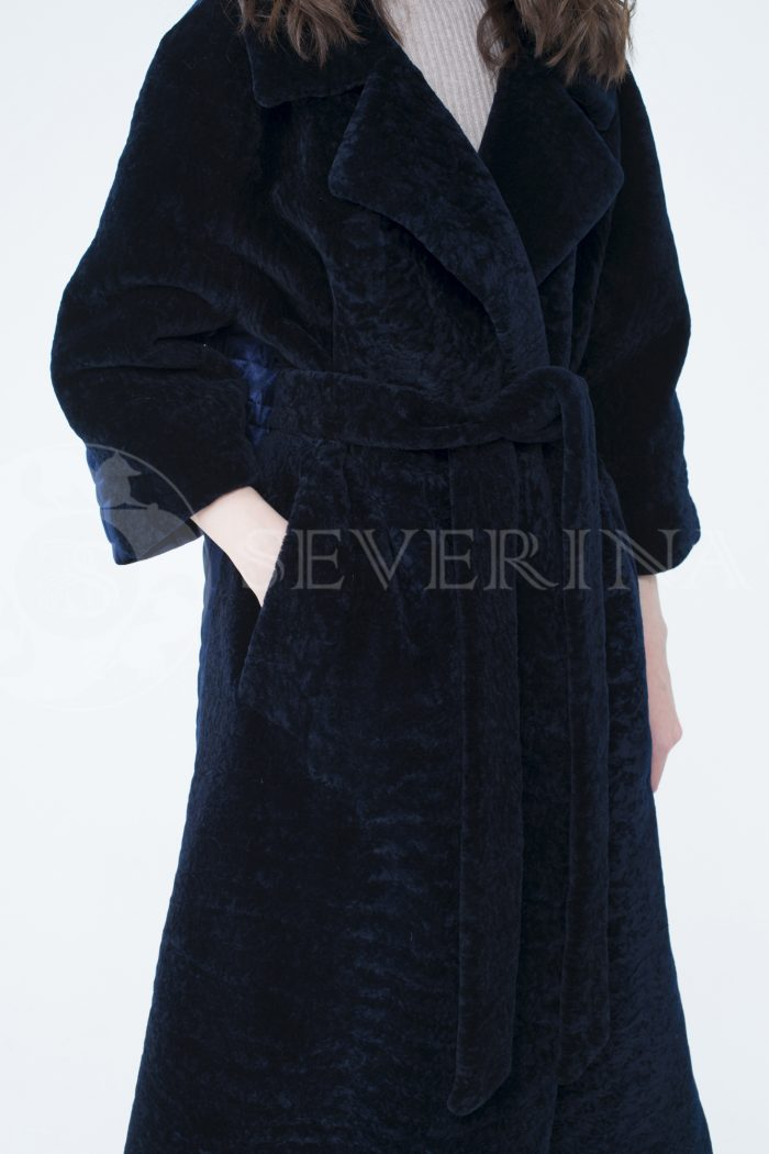 lev302109 700x1050 - пальто-трансформер из бархатной стёганки комбинированное мехом овчины