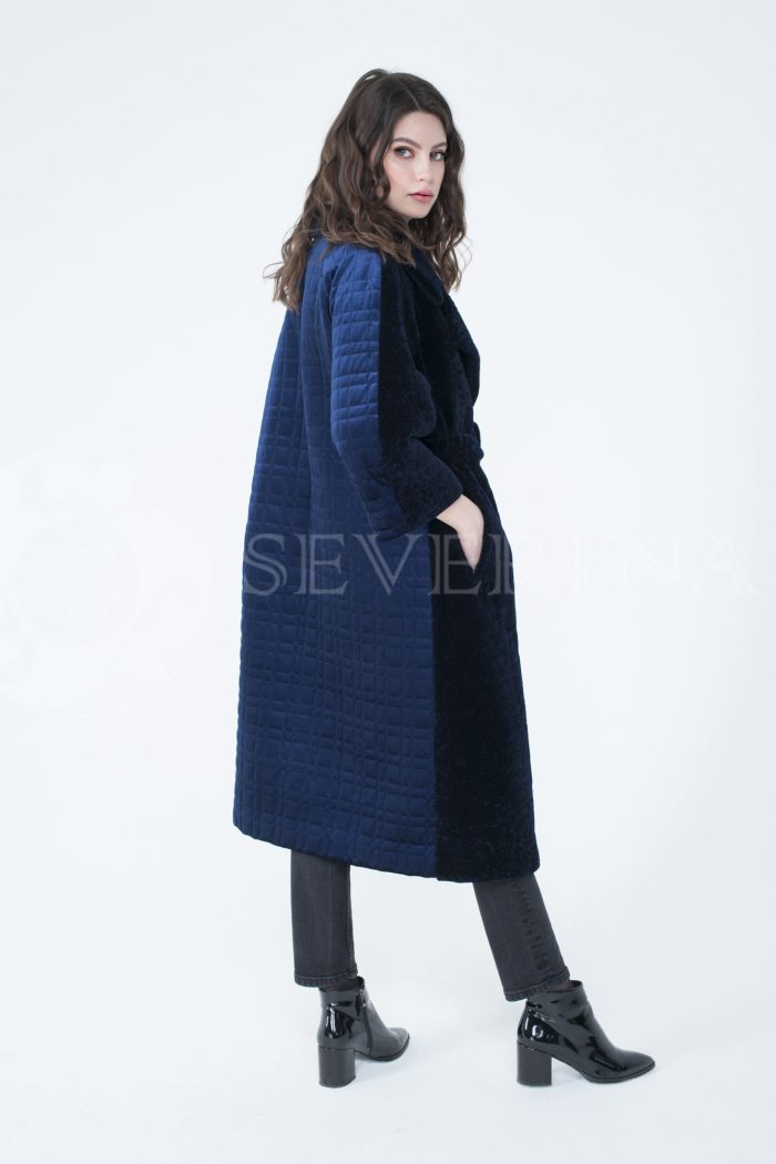 lev302112 700x1050 - пальто-трансформер из бархатной стёганки комбинированное мехом овчины