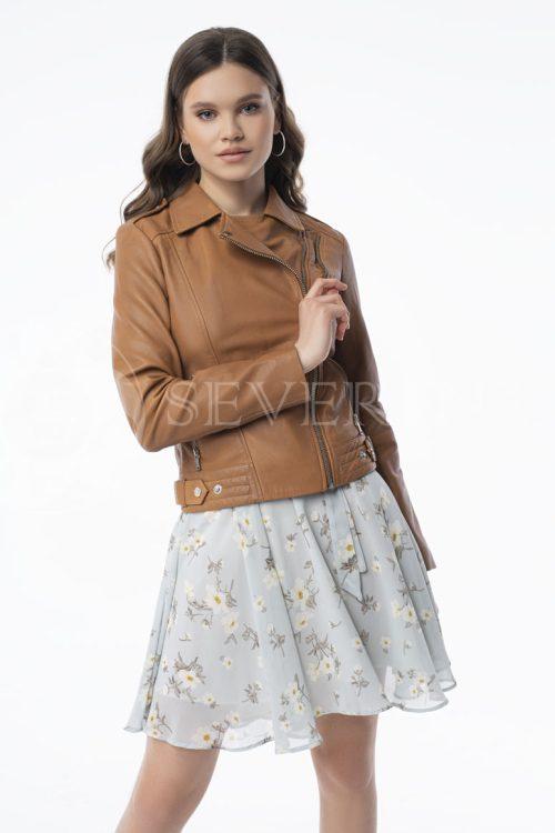 "kurtka kozha ryzhaja 500x750 - куртка из натуральной кожи ""косуха"""