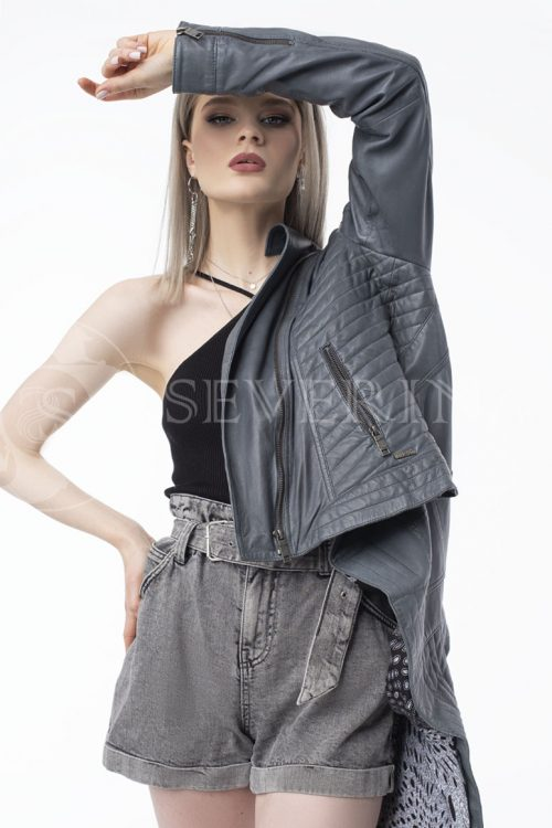 "kurtka kozha sero zelenaja 500x750 - куртка из натуральной кожи ""косуха"""