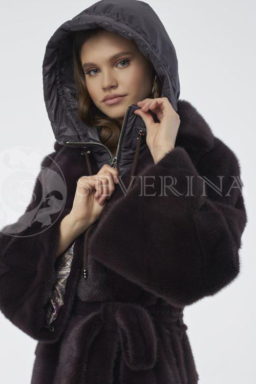 kapjushon baklazhanovyj 2 500x750 - пальто стёганое со съемной отделкой мехом норки-крестовки