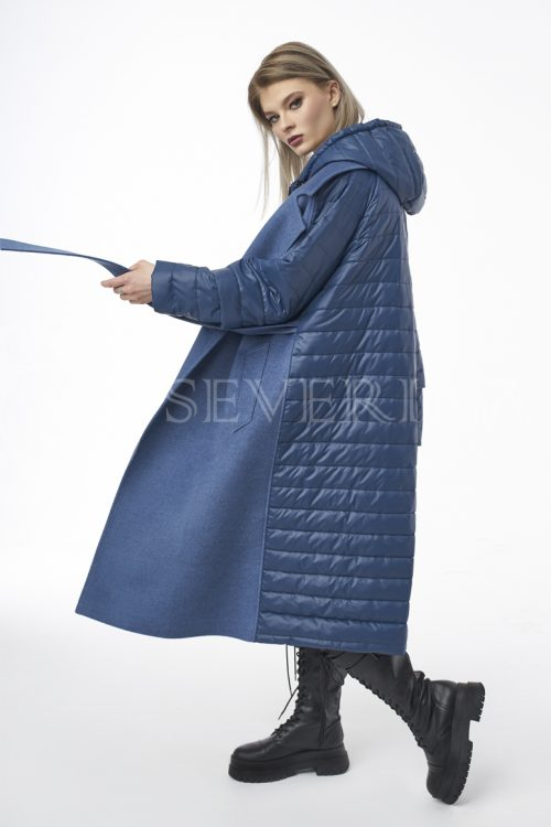 palto transformer dzhins 1 500x750 - пальто-трансформер стёганое с капюшоном