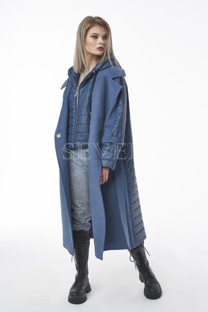 palto transformer dzhins 2 700x1050 - пальто-трансформер стёганое с капюшоном