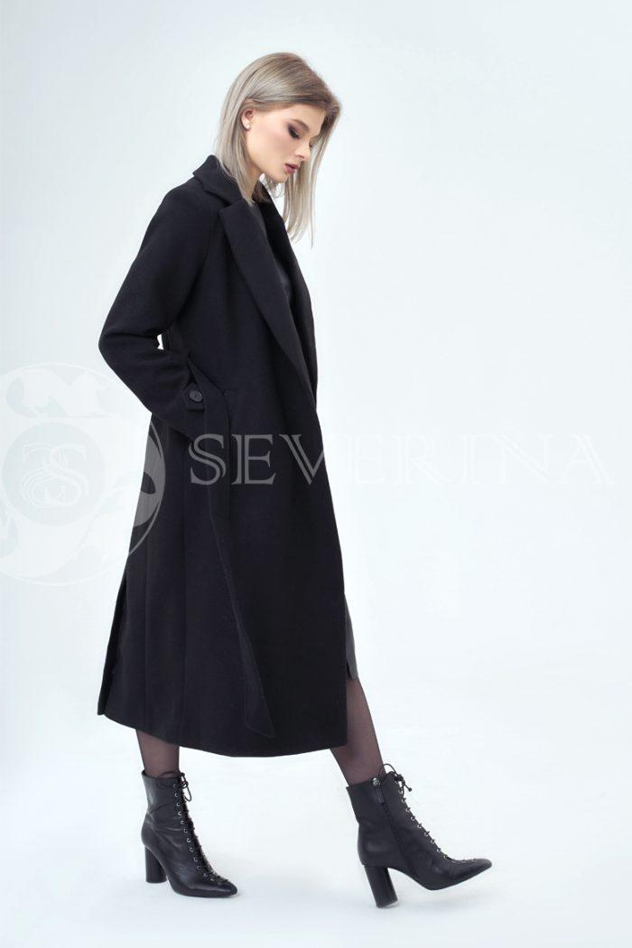 chernoe palto 3 700x1050 - пальто классическое черного цвета