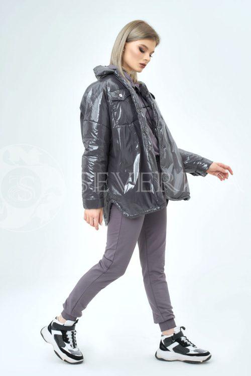 grafit lake 1 500x750 - куртка-рубашка из утепленной плащевки лаке