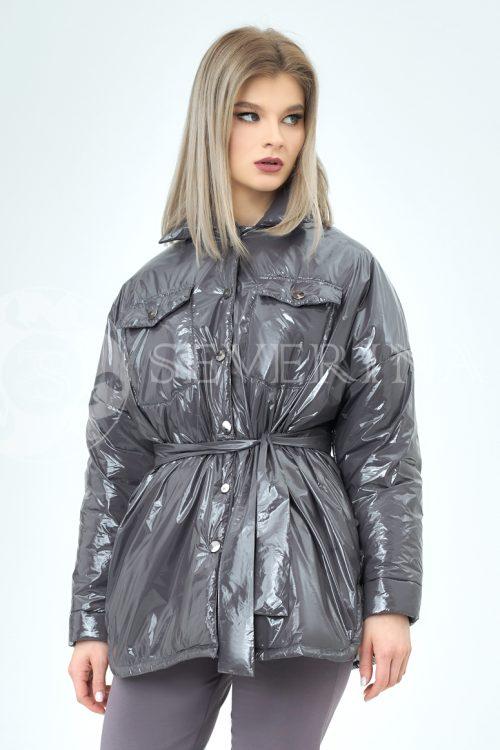 grafit lake 2 500x750 - куртка-рубашка из утепленной плащевки лаке