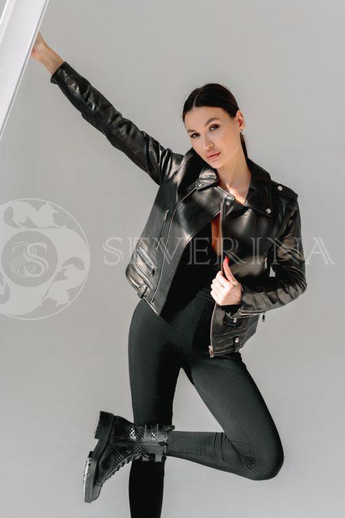 kosuha bez meha 500x750 - куртка с английским воротником и манжетами из меха козлика
