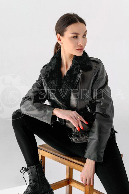 """kosuha kozlik 500x750 - куртка из натуральной кожи """"косуха"""" с отделкой мехом козлика"""