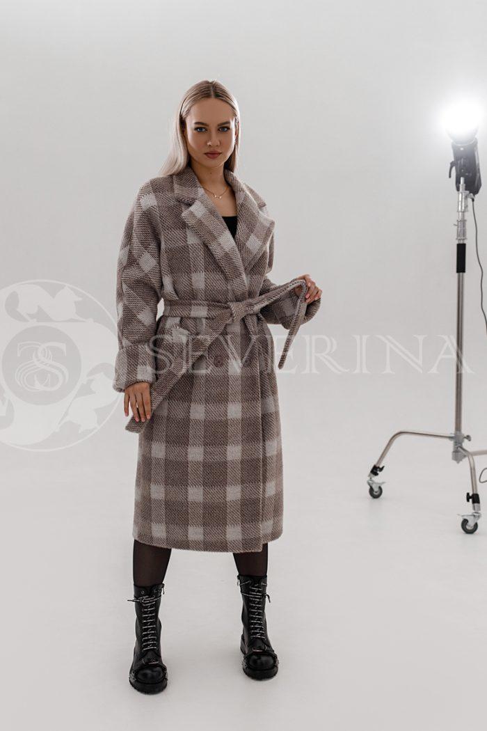 palto kletka kapuchino 700x1050 - пальто классическое в клетку