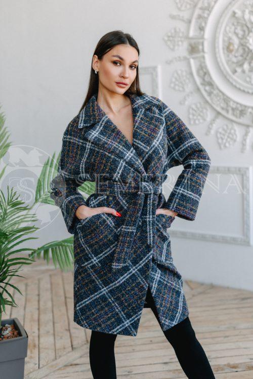 palto kletka temno sinjaja 500x750 - пальто классическое в клетку