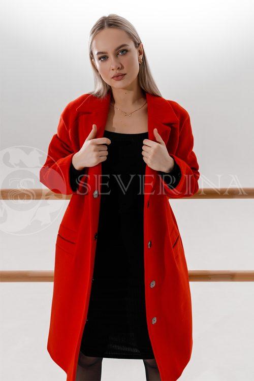 palto krasnoe 500x750 - пальто ярко-красного цвета