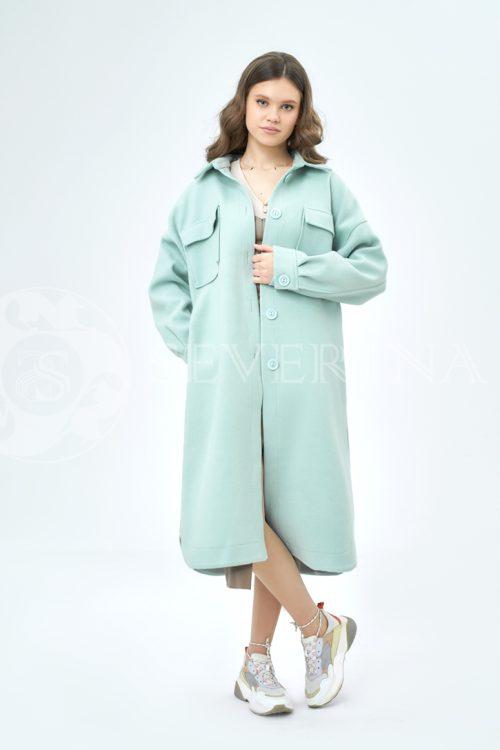 palto rubashka birjuza 1 500x750 - пальто-рубашка из мягкой ткани мятного цвета