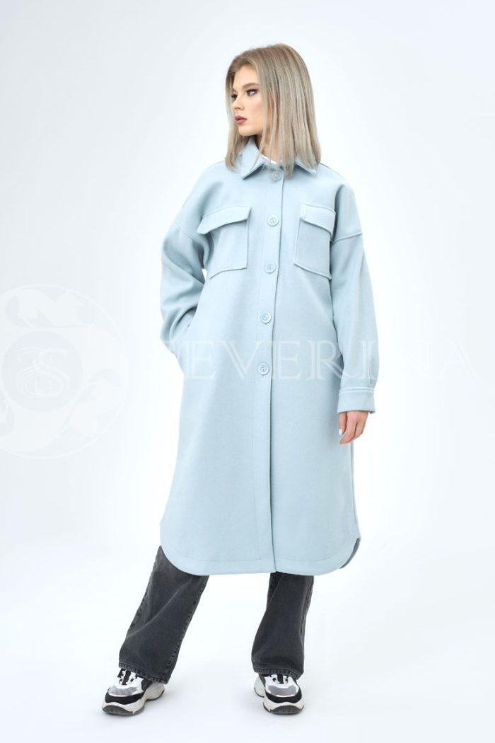 palto rubashka golubaja 700x1050 - пальто-рубашка из мягкой ткани голубого цвета
