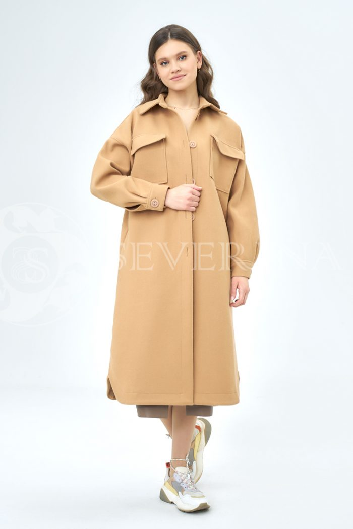 palto rubashka kjemjel 2 700x1050 - пальто-рубашка из мягкой ткани цвета camel