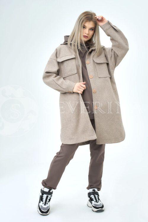 palto rubashka svetlo korichnevaja 500x750 - пальто-рубашка из мягкой ткани кофейного цвета