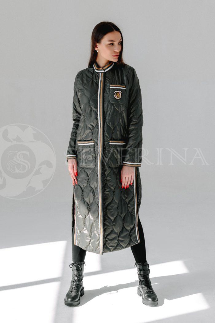 palto steganoe bolotnoe 700x1050 - пальто стёганое на биопухе