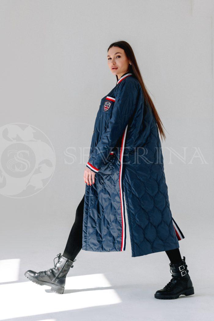 palto steganoe sinee 700x1050 - пальто стёганое на биопухе