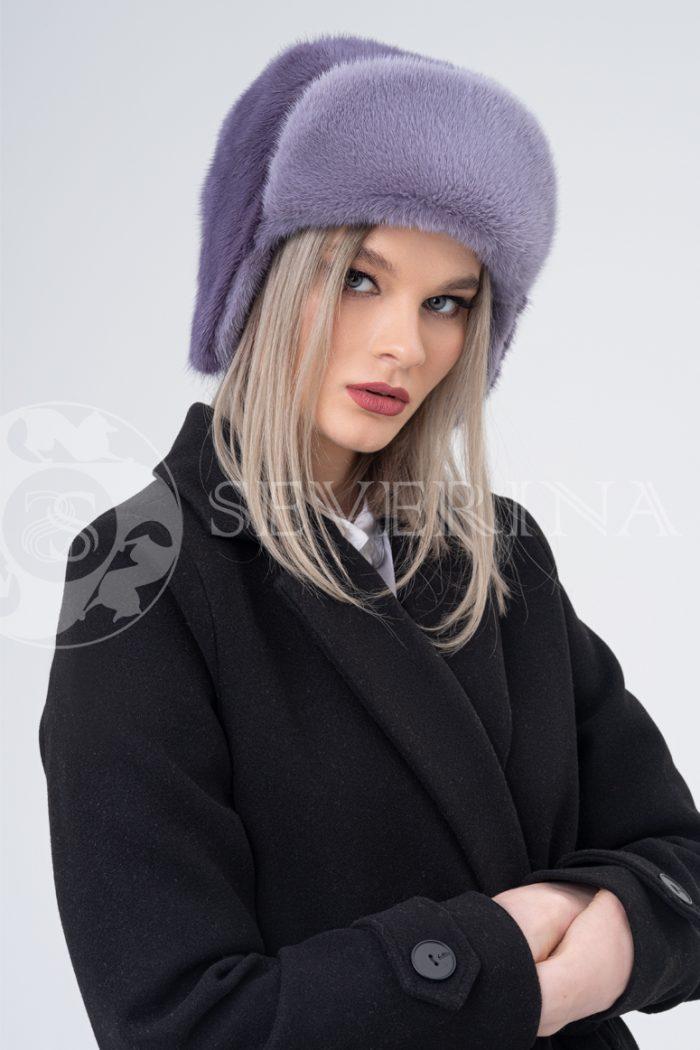 shapka ushanka norka lavanda   700x1050 - шапка-ушанка из меха норки
